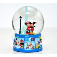 Mickey and Minnie Mouse Eiffel Tower - Light Up Snow Globe