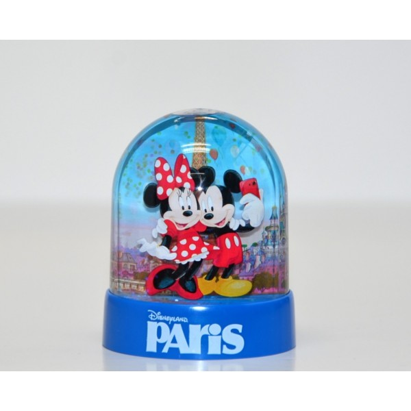 Disneyland Paris Mini Plastic Snow Globe