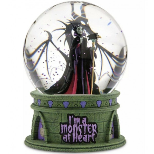 Disney Maleficent I'm A Monster At Heart Light Up Snow globe