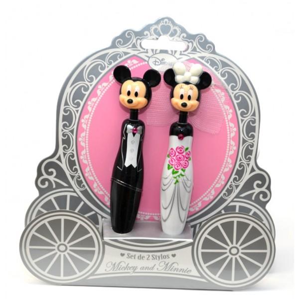 Disney Mickey & Minnie 3D Wedding Pens Set
