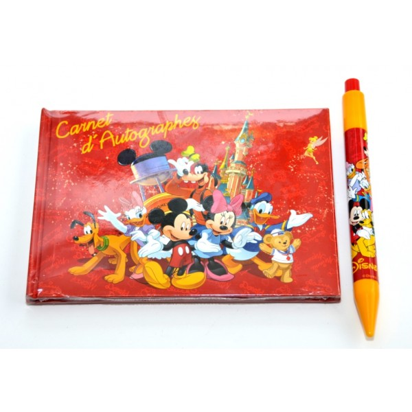 Disneyland Paris Mickey Mouse And Friends Autograph Book and Pen