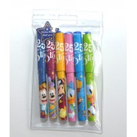 Disneyland Paris 25 years of Stars pens, Set of 6