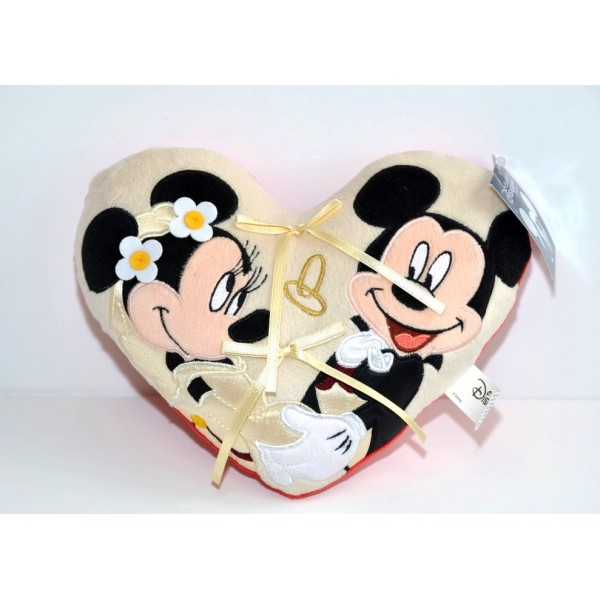 Disneyland Paris Mickey and Minnie Small Wedding ring cushion