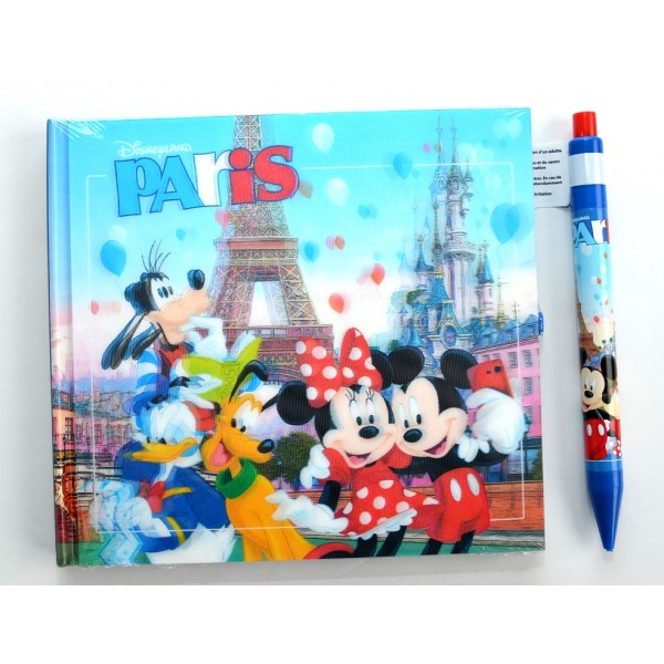 Mickey Mouse and Friends in Disneyland Paris Autograph Book and Pen