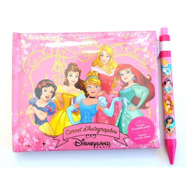 Disneyland Paris Princess Autograph Book and pen