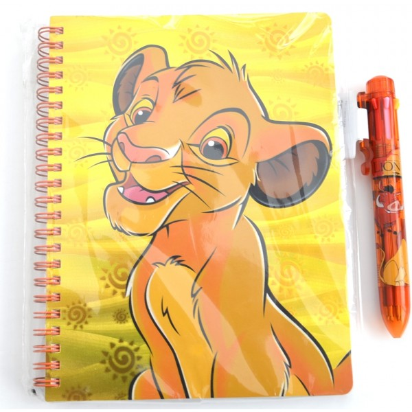 Simba Journal Notebook and Multicolour pen set