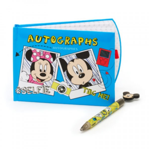 Mickey and Minnie Mouse Autograph Book and Pen