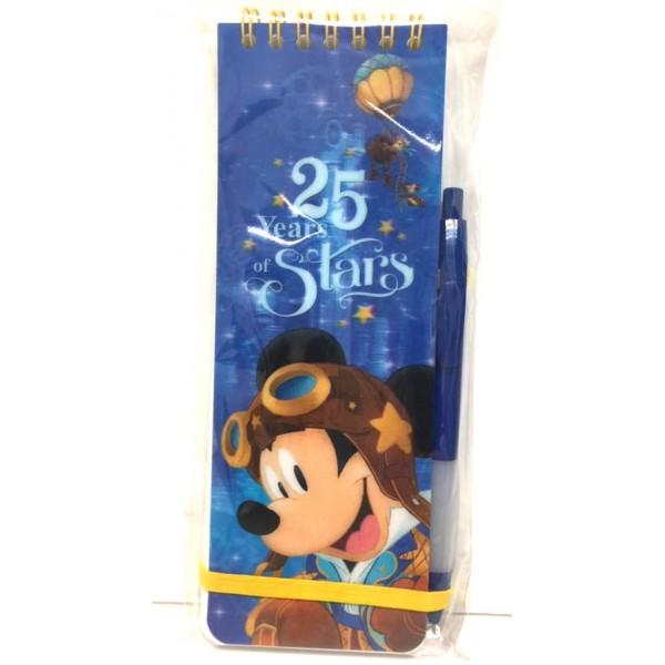 Disneyland Paris 25 Anniversary Mickey Notebook and Pen