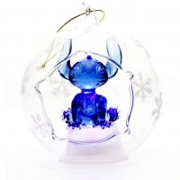 Stitch Illuminated Christmas Bauble, Arribas Glass Collection