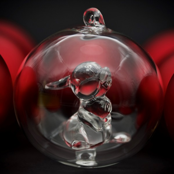 Thumper Christmas bauble, Arribas Glass Collection