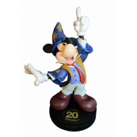 Disneyland Paris Authentic 20th Anniversary Mickey Mouse Statue