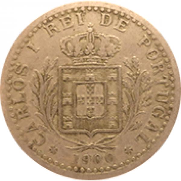 1900 Carlos I 100 Réis