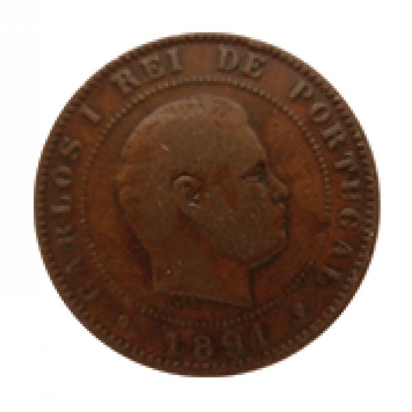 1891 Carlos I 10 Réis