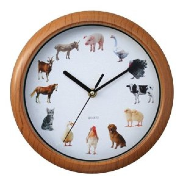 New York Gift Animal Sound Wall Clock