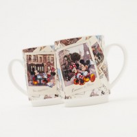 Disneyland Paris Mickey and Minnie Authentic 2 Mugs Set