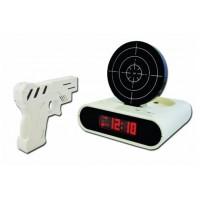 Gun & Target Recordable Alarm Clock