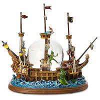 Disney Peter Pan Pirate Ship Snow Globe