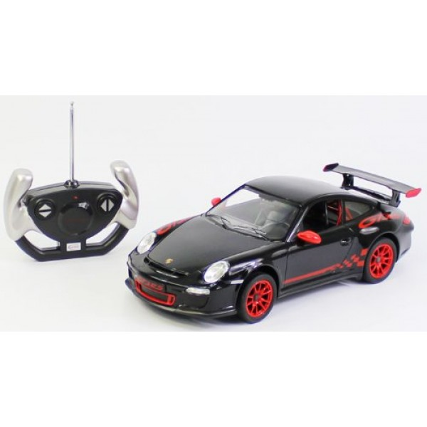 Radio Remote Control Car 1/14 Scale Porsche 911 GT3 RS RC RTR Black