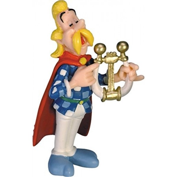 Obelix & Asterix   - Cacofonix Playing the Lyre Figurine