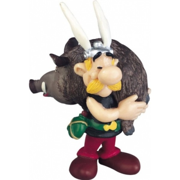 Obelix & Asterix  Asterix Carrying a Wild Boar Figurine