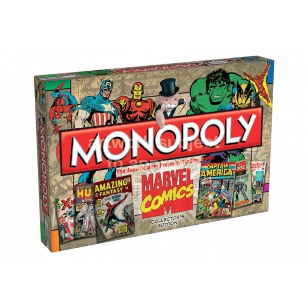 Marvel Comic Books Monopoly Board Game