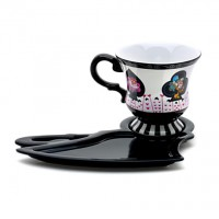 Disneyland Paris Alice In Wonderland Cup and Saucer