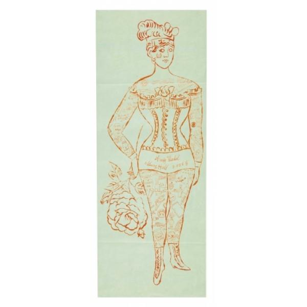 Tattooed Woman Holding Rose, Andy Warhol