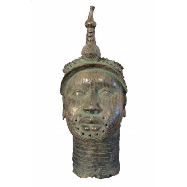 Rare Vintage African Bronze Tribal Art - Ife, Nigeria