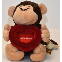 Monkey soft toy, photo frame