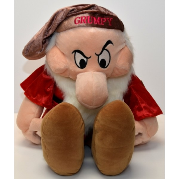 "Disney Grumpy large soft toy from ""Snow White"""