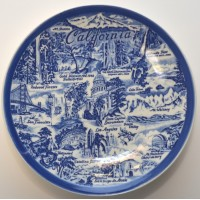 Vintage California Souvenir Plate