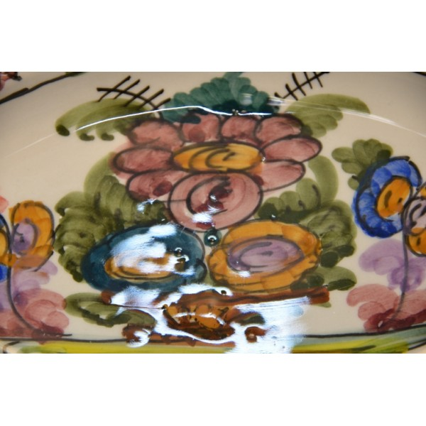 Vintage Floral Handmade Plate