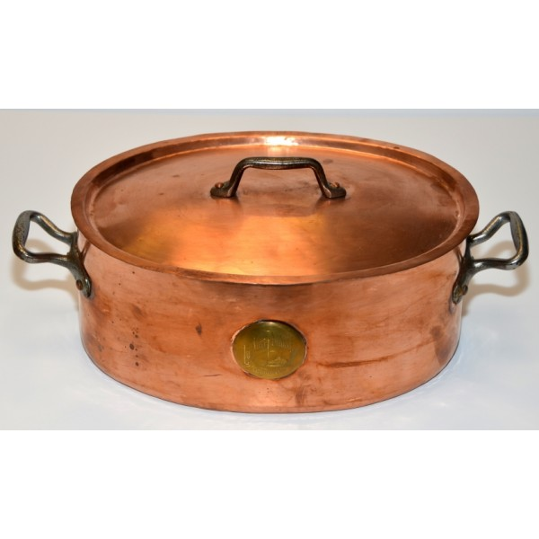 Vintage Copper Oval Roaster