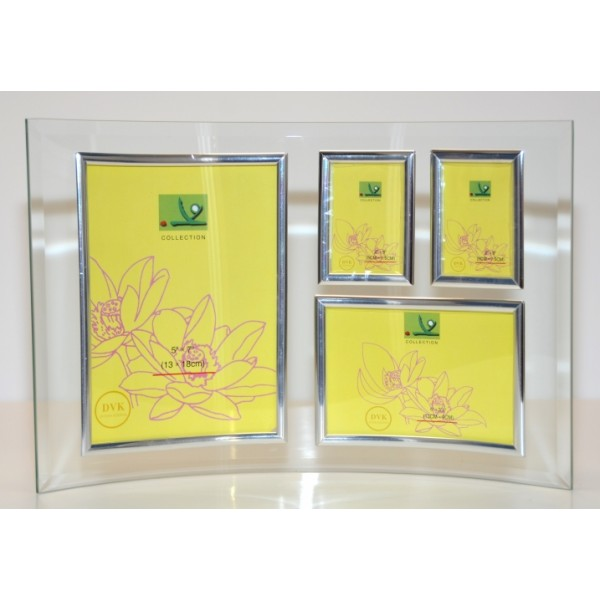 Photo Frame Curved Bevelled Glass- Collage