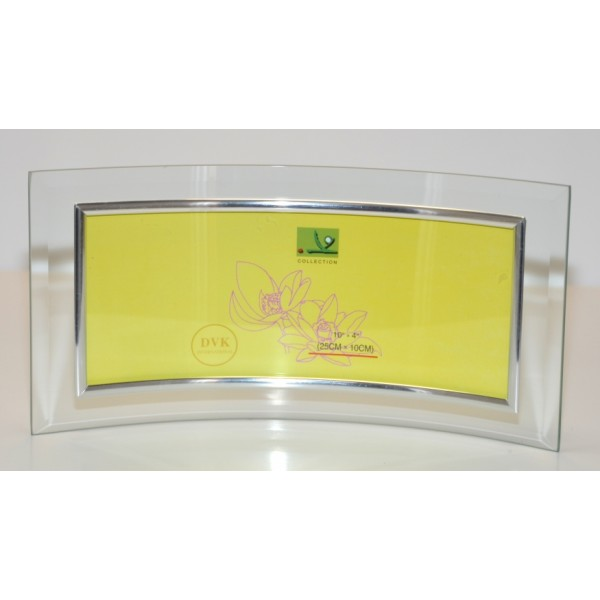 """Curved Panoramic Silver Photo frames 10""""X 4"""""""