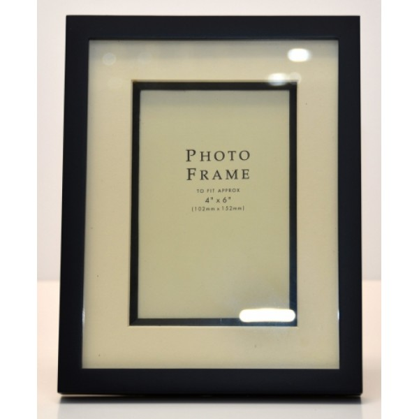 "Madrid Photo Frame 6""x4"" Black"