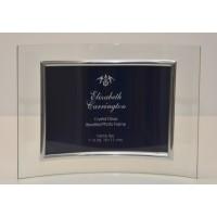 """Curved Crystal Glass Frame 5""""x7"""" Landscape"""