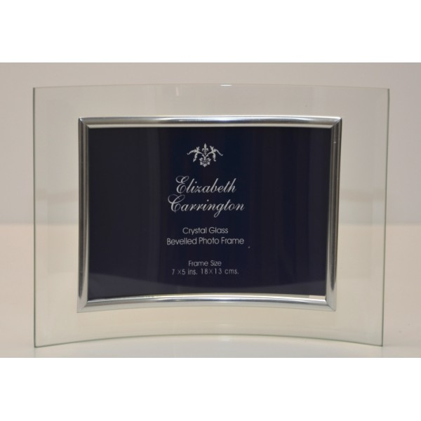 "Curved Crystal Glass Frame 5""x7"" Landscape"