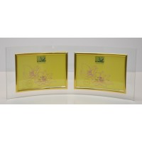 Curved Glass 5x7 Double Photo Frame