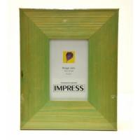 Photo Frame 4x6 Green Wood