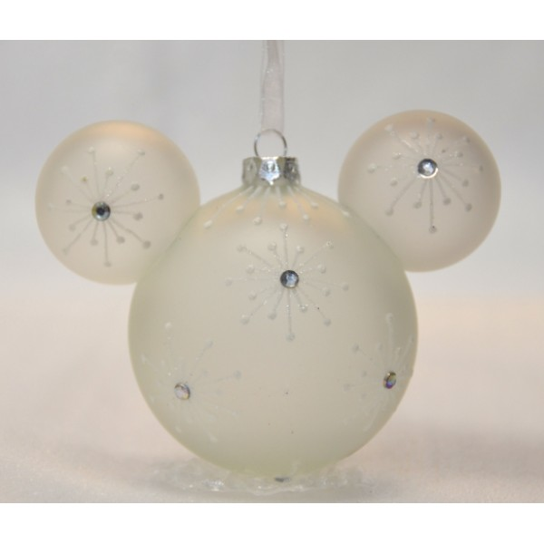Disney Mickey Mouse Icon Glass Ornament - Bejewelled, extremely rare