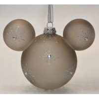 Mickey Mouse Icon Glass Ornament - Bejewelled