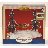 Lemax Christmas Animated Table Accent Swinging Santa