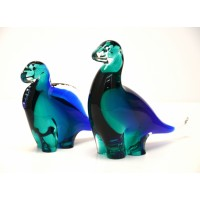 Venetian Glass Animal Two Figurines
