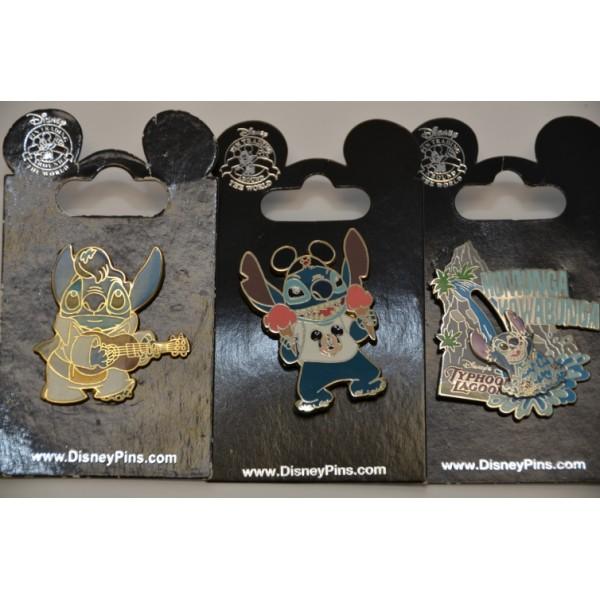 Disney Trading Pins Stitch Set of 3