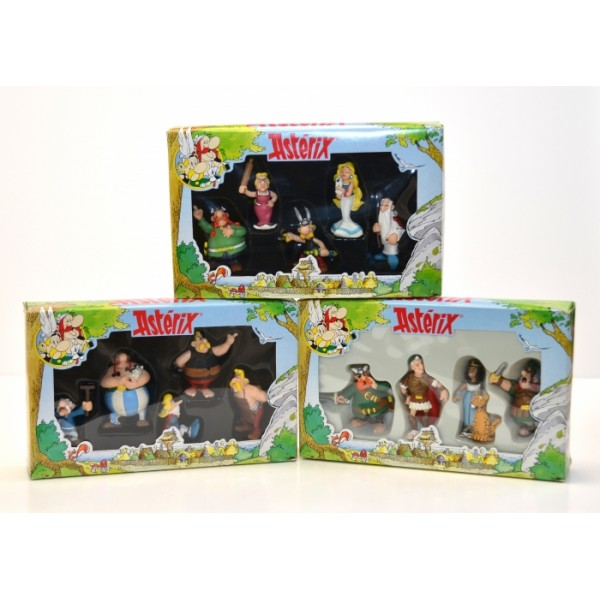 Asterix Figurines Play Set x 3 - Very Rare