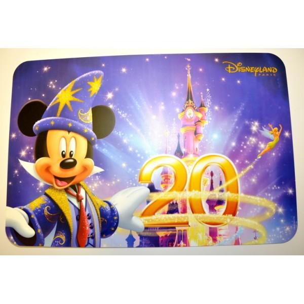 Disneyland Paris 20 anniversary Placemat