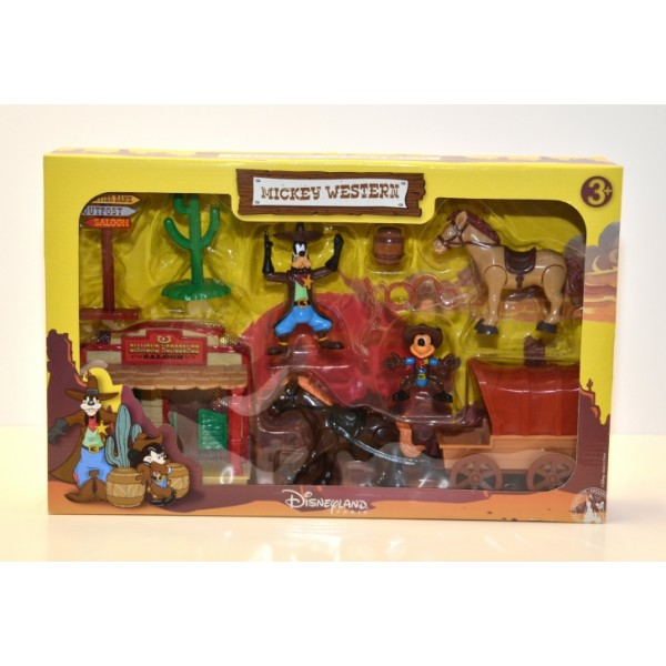 Mickey western articulated figures and accessories playset