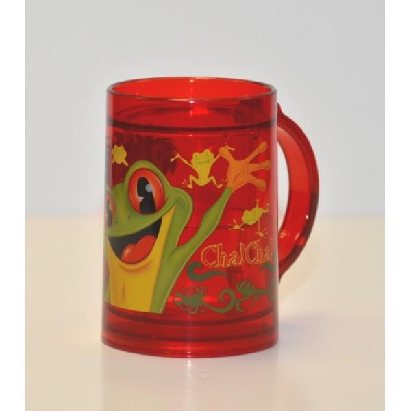 Rainforest Café green frog Plastic mug
