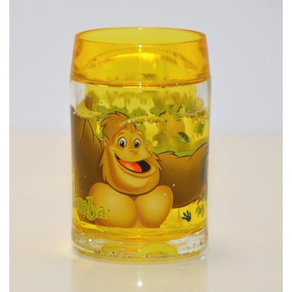 Rainforest Cafe Bamba the gorilla Plastic Glitter Cup